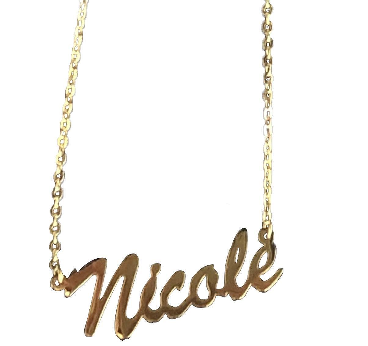 f239347818e88 Amazon.com: Foreverlove Personalized Name Necklace Nicole Pendant ...