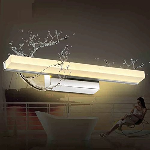 Vanity Light 16W 23.8inches LED Acrylic Rectangle Tube Cool White 6000K for Bathroom/Bedroom YHTlaeh Vanity Light by YHTlaeh (Image #3)