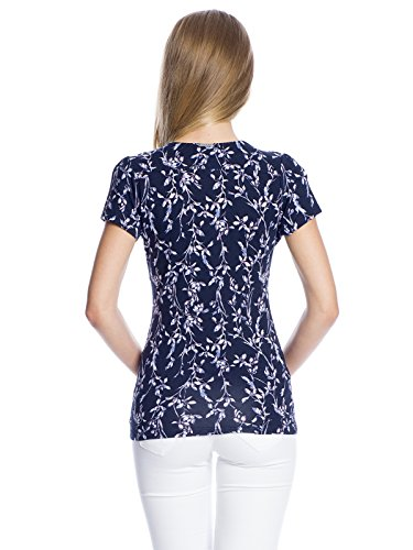 Vive Maria New in Town Shirt dunkelgrey Allover-Print