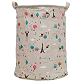 Story@home European Style Multipurpose Round Shape Foldable Open Laundry bag Basket with Carry Handle