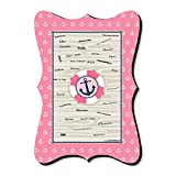 Ahoy - Nautical Girl - Unique Alternative Guest Book - Baby Shower or Birthday Party Signature Mat