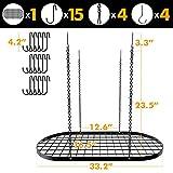 VDOMUS Pot Rack Ceiling Mount Cookware Rack Hanging Hanger Organizer with Hooks
