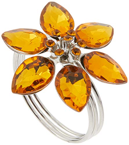 Anel De Guardanapo Holanda Âmbar Mimo Style Amarelo/prata