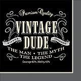 Creative Converting 16 Count Vintage Dude Beverage Napkins