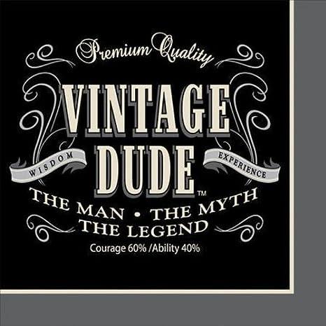 Vintage Dude 50th Birthday Napkins, 48 ct Creative Converting COMINHKPR139497