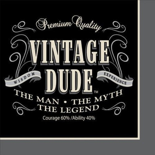 Creative Converting 16 Count Vintage Dude Beverage Napkins