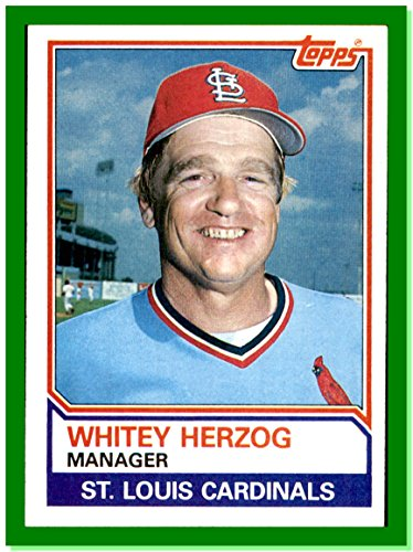 1983 Topps #186 Whitey Herzog Manager ST. LOUIS CARDINALS (1983 St Louis Cardinals)