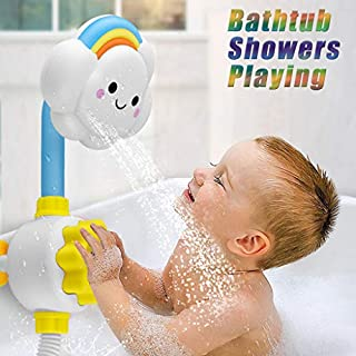 XLSTORE Cloud Baby Bath Toys Bathtub Showers Bathing Spouts Suckers Folding Spray Faucet