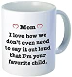 For MOM pink heart - I love how we don't have to say it out loud...