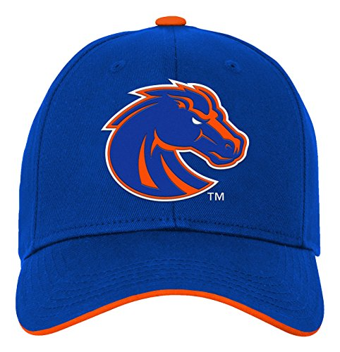 NCAA by Outerstuff NCAA Boise State Broncos Kids & Youth Boys Basic Structured Adjustable Hat, Royal, Youth One Size - Broncos Hats State Boise