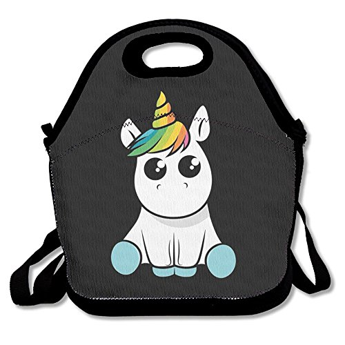 LPYHB-U8 Unicorn Lunch Tote Bag Picnic Lunchbox Lunch Tote Insulated Reusable Container Organizer For, Adults, Kids For School Work Outdoor