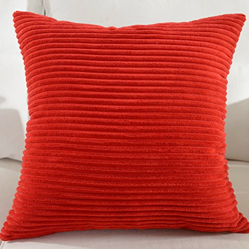 Brilliant Striped Corduroy Pillow Cushion