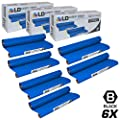 LD Compatible Replacements for Brother PC402 Set of 6 Thermal Fax Ribbon Refill Rolls for use in Brother FAX 560, FAX 575, FAX 580MC, Intellifax 560, 565, 580MC, and MFC-660MC Printers