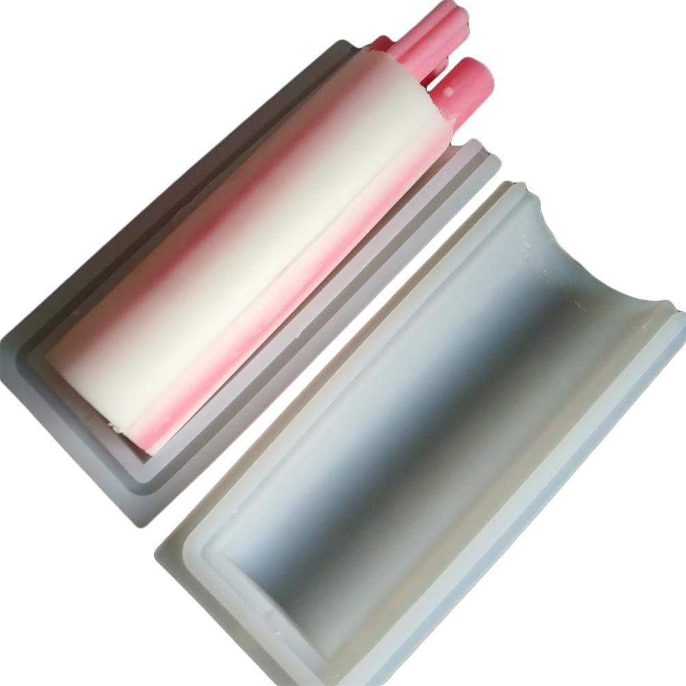 Modell Handarbeit 1000 ml Silikon-Langzylinderf/örmig Lemby Silikon-Seifenform nur runde R/öhrchenform Seife Kaltprozess rund