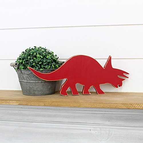 Wood Creations - Triceratops Dinosaur Hanging Wood Kit - Unfinished Craft Wood - DIY - Craft Project - Kids Decor - Wall Art - Dinosaurs (Triceratops Wood)