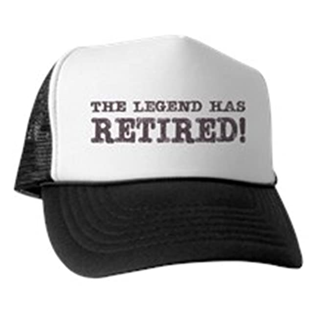 97e15e49d97 Amazon.com  CafePress - The Legend Has Retired Trucker Hat - Trucker ...