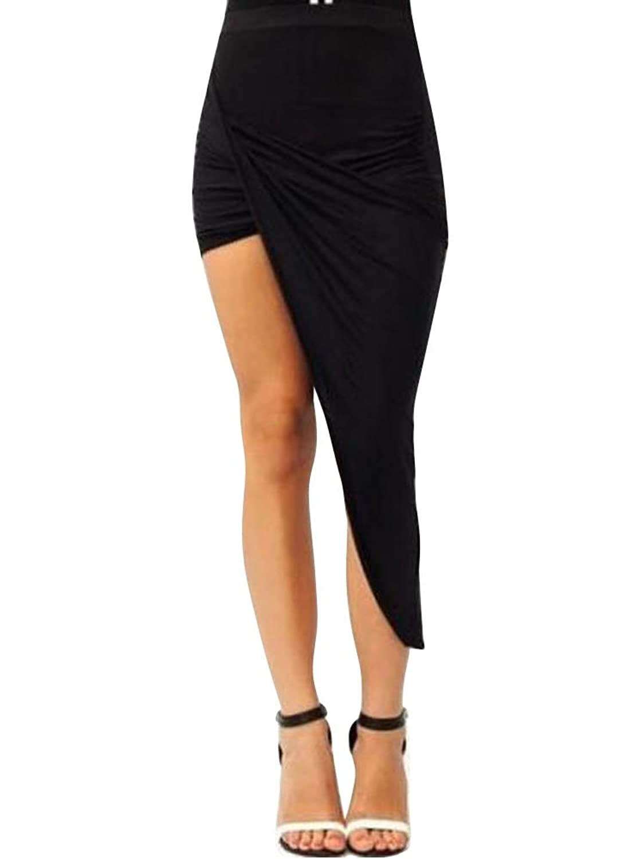 Keral Frauen Asymmetrische Chic Abend Kleid Plissee Rock Mit Hoher Hüfte
