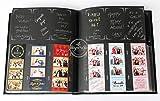 Paper Cut Design Shop Photo Booth Album Slip-in Plastic Slots 2x6 Photos Wedding Album Guestbook Memory Album Leatherette
