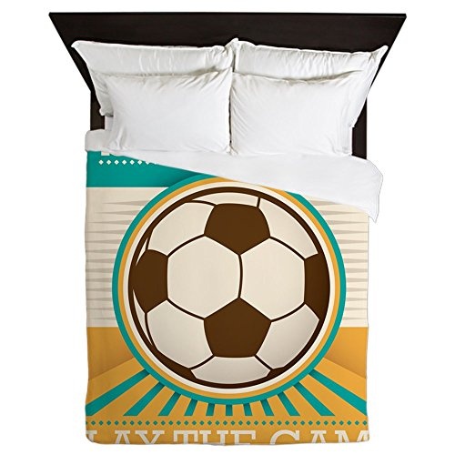 Queen Duvet Cover Soccer Football Futbol Play The Game by Royal Lion