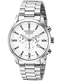 Claude Bernard Men's 10222 3M AIN Aquarider Analog Display Swiss Quartz Silver Watch