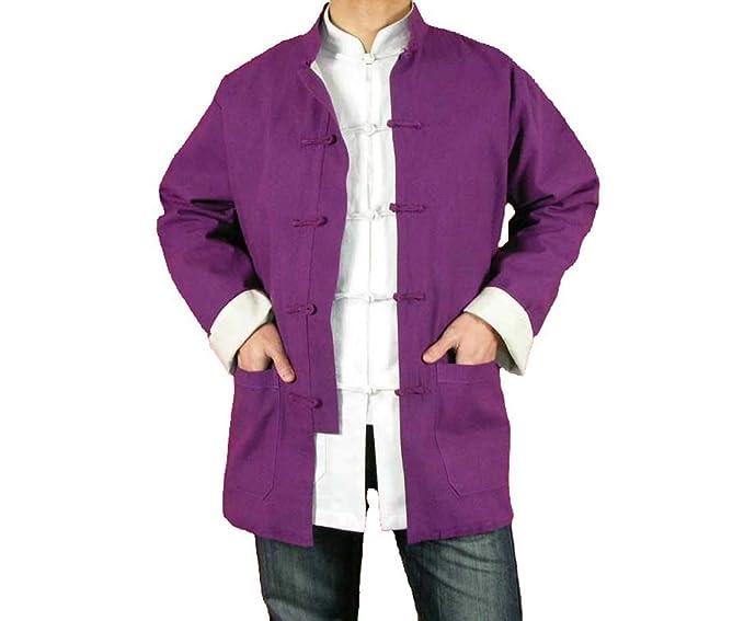 100% Algodón Violeta Chaqueta Abrigo de Artes Marciales Kung Fu/Tai Chi XL-XS o Hecho A Medida #126: Amazon.es: Ropa y accesorios