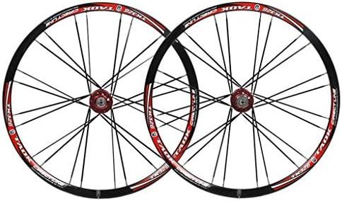 """GXFWJD MTB 自転車ホイールセット26"""" 自転車の車輪 ダブルウォールアロイリム タイヤ 1.5-2.1"""" ディスクブレーキ 7-11速度 ペイリンベアリングハブ クイックリリース 24H 6色"""