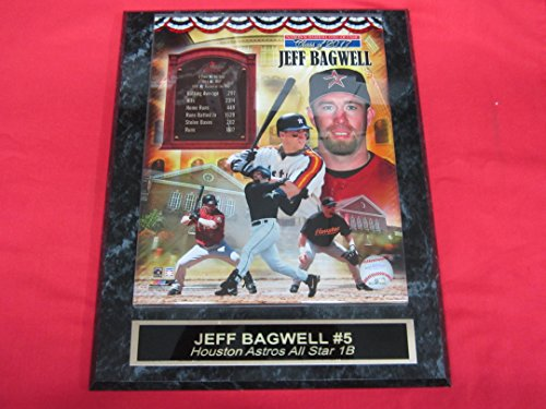 Astros Jeff Bagwell Collector Plaque w/8x10 Hall of Fame Photo