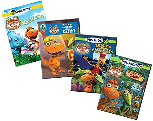 (Ultimate PBS Dinosaur Train 4-DVD Learning Collection: Eggstravaganza / What's at the Center of the Earth? / Buddy's Halloween Adventure / Adventure Camp + Bonus Puzzle)