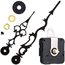 Mudder Quartz Clock Movement Mechanism with 170 mm/ 6.7 inches Clock Hands for DIY Wall Clock (Black)