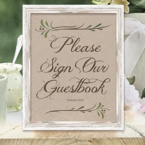 Amazoncom Please Sign Our Guestbook Sign Wedding Signs Rustic