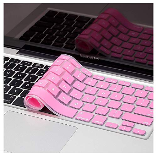 Plastron MacBook Air Pro Keyboard Skin Cover Protector for US Layout Models A1278, A1286, A1369, A1370, A1398, A1425, A1465, A1466, A1502 (Silicone: Baby Pink)