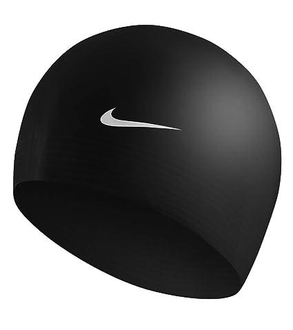 b083a3980cb Amazon.com : Nike Flat Latex Swim Cap - Black : Sports & Outdoors