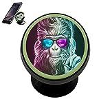 Universal Magnetic Phone Car Mount Holder Metal Luminous 360 Degree Rotation Car Dashboard, Car Phone Mount Luminous Magnetic Car Phone Holder Gorilla