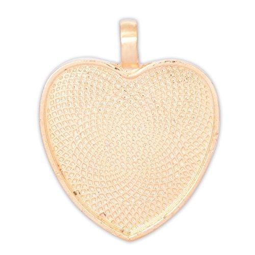 Heart Shaped Bezel Pendant - 1