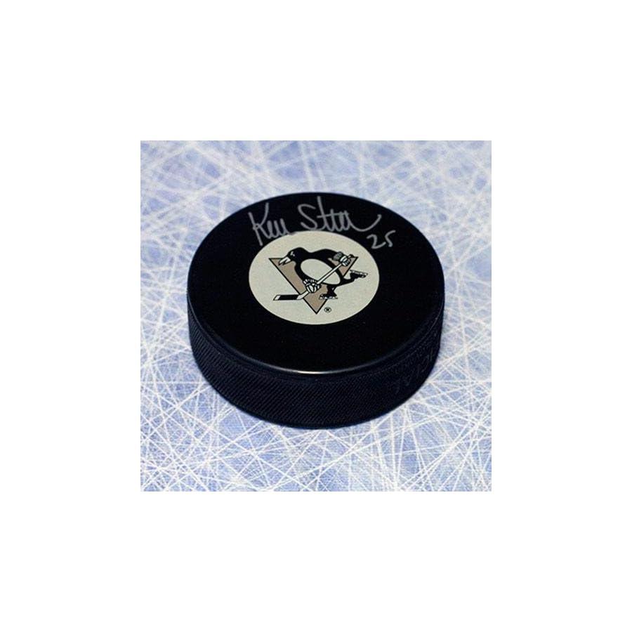 Kevin Stevens Signed Hockey Puck Autographed NHL Pucks
