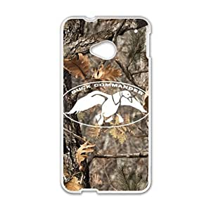 Happy Duck Dynasty Duck Commander Realtree Camo Cell Phone Case for HTC One M7