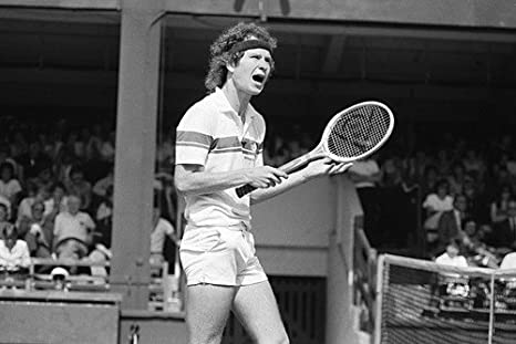 john mcenroe bw 24x36 poster tennis legend