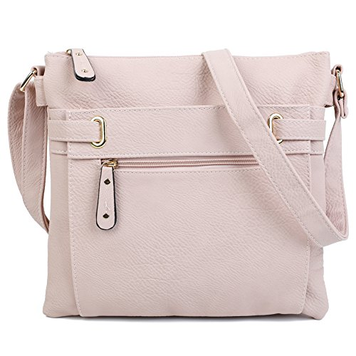 Bag Light Big Shoulder Shop Trendy Cross Womens Messenger Body Handbag Medium Pink qvzZpq