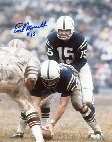 Earl Morrall Baltimore Colts Signed Autographed #15 8x10 Photo W/coa - Autographed NFL ()
