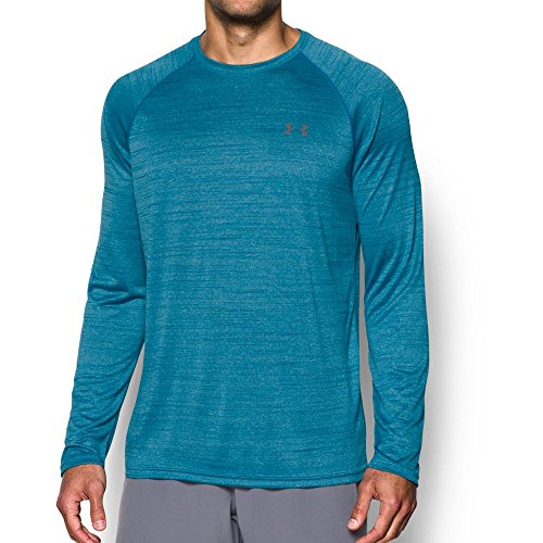 Under Armour Men's Tech Patterned Long Sleeve T-Shirt,Bayou Blue (953)/Graphite, X-Large
