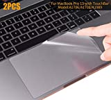 MacBook Pro 13 2018 2017 Skin, CASEBUY Clear Anti-Scratch Trackpad Protector Cover Newest MacBook Pro 13 inch Without Touch Bar(A1706/A1708/A1989, Release 2016/2017/2018)