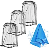 Mosquito Net for Head, Durable Net Mesh Protection from Bug Mosquito or Bee, Great for Outdoor Activities, 3-Pack