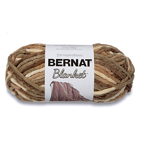 Bernat Blanket SB Yarn - (6) Super Bulky Gauge  - 5.3oz -  Sonoma  -  Machine Wash & Dry For Crochet, Knitting & Crafting