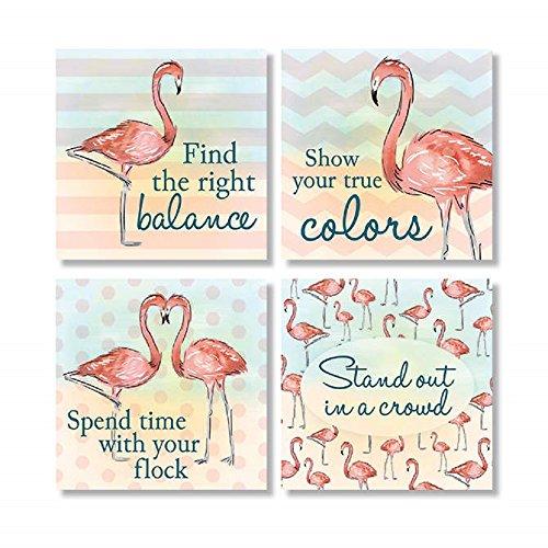Flamingo Coasters - Carson Decorative Flamingo Square House Coaster Set