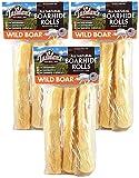 Tasman's Natural Pet 3 Pack Wild Boar Rawhide Rolls, 3 Medium Rolls per Pack (9 Pack)