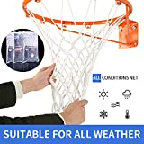 Spring Meow Basketball Net, Heavy Duty Basketball Net Replacement for Basketball Hoop, All Weather Fits Standard Indoor or Outdoor 12 Loops Rims 12 Loops