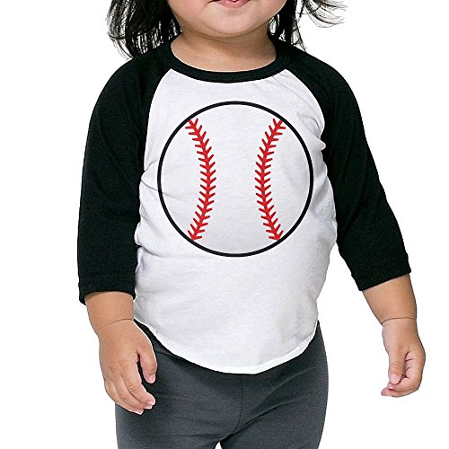 Susuha White Baseball With Red Seams A Child's Sleeve Shoulder Shirt 2 Toddler