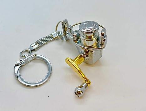 Nueva pesca carrete de pesca herramientas llavero regalo ...