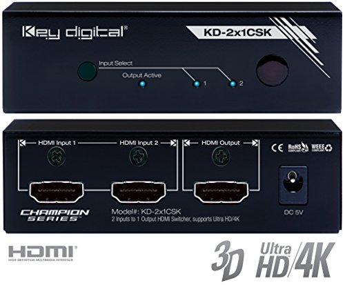 Key Digital KD-2x1CSK HDMI Switcher by Key Digital
