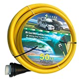 Trek Power 50Amp4 Wire RV Twist Lock Power Cord With Connector Plug With Grip Handles (50ft)